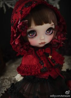 *** ** Milk Tea * Troll Dolls, Ooak Dolls, Blythe Dolls, Pretty Dolls, Beautiful Dolls, Kawaii Doll, Japanese Toys, Gothic Dolls, Tea Art