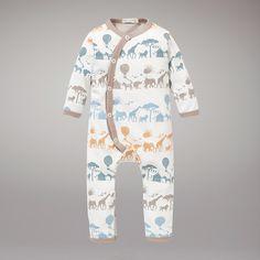 Buy Organics for Kids Safari Print Romper Suit, Yellow online at John Lewis