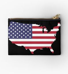 """""""US Flag"""" Zipper Pouch by nocnoc78 