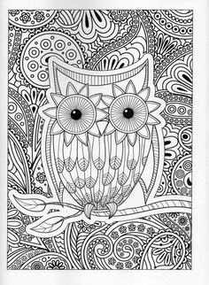 Owl Coloring Pages Printable Sheets Books Mandala Colour Colorful Drawings Painting Doodle Art