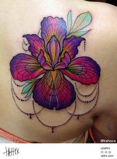 Kshocs Tattoo | Vancouver - Iris Flower for Karley...