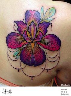Kshocs Tattoo | Vancouver - Iris Flower for Karley...