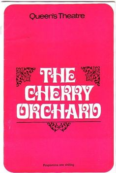 Patrick Wymark in The Cherry Orchard Queen s Theatre programme 1967  Ref.627