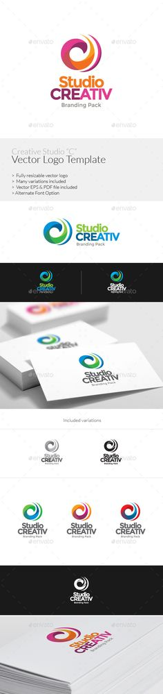 "Creative Studuio ""C"" Logo Template — Vector EPS #branding #studio • Available here → https://graphicriver.net/item/creative-studuio-c-logo-template/8922201?ref=pxcr"