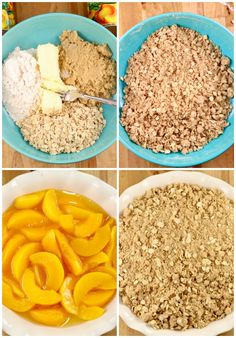 Peach Crisp is a delicious dessert filled with juicy peaches and topped with a crispy brown sugar, cinnamon and oat topping. Perfect for a quick and easy weeknight treat! Peach Oatmeal Crisp, Peach Crisp, Best Soup Recipes, Dinner Recipes, Peach Slab Pie, Apple Crisp Topping, Baked Peach, Canned Peaches, Sweet Peach
