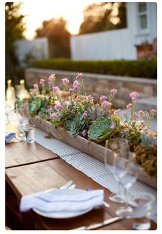 Center piece outside table