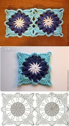 How to Crochet a Solid Granny Square MK square . : How to Crochet a Solid Granny Square MK crochet square motif, Crochet Motifs, Granny Square Crochet Pattern, Crochet Flower Patterns, Crochet Diagram, Crochet Stitches Patterns, Crochet Chart, Crochet Squares, Love Crochet, Crochet Flowers