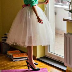 Maria Just Do It: Tulle skirt tutorial Tutu En Tulle, Tulle Skirt Tutorial, Ballet Skirt, Sewing, My Style, Skirts, How To Wear, Clothes, Outfits