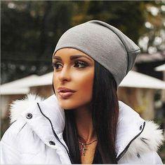 7f9b41ccd86 Winter Hats for Women Beanies Cotton Blended Hip Hop Caps Slouch Warm Hat  Festival Unisex Turban Cap Solid Color Bonnet Hats - TakoFashion - Women s  ...