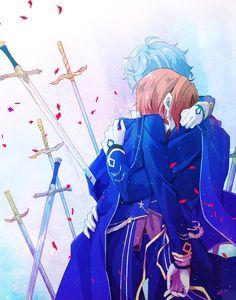 Seketika nyesek!!! Hot Anime Boy, Sad Anime, Cute Anime Guys, I Love Anime, Anime Art, Yaoi Hard, Ensemble Stars, Manga, Anime Couples