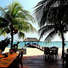 Chabil Mar pier Scary Places, Places To Go, Luxury Beach Resorts, Resort Villa, Belize, Caribbean, Mexico, Mansions, Travel