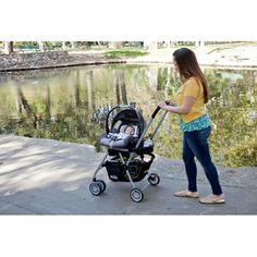 Roo Car Seat Stroller. You can actually see your baby while pushing him and ultra lightweight.