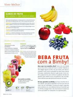 Revista bimby 2011.07 n08 Smoothie, Food And Drink, Favorite Recipes, Healthy Recipes, Meals, Beauty, Sweet Recipes, Illustrated Recipe, Mushrooms