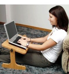 laptop-bed-desk Tap The Link Now To Find The Gift fb.me/ - Laptop - Ideas of Laptop - laptop-bed-desk Tap The Link Now To Find The Gift fb. Diy Laptop Stand, Laptop Desk For Bed, Lap Desk, Table Portable, Wooden Projects, Work Desk, Diy Holz, Diy Furniture, Amish Furniture