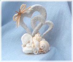 Seashell Wedding Beach Cake Topper Whimsystarfish Tiara Seasehll