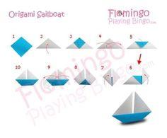 How fold step by step origami sailboat #sailboatart
