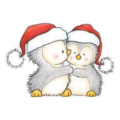 cute christmas penguin - Google Search