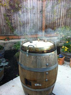 Wine barrel smoker original!