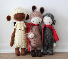 LUPO, KIRA & RADA made by Natalie H. / crochet pattern by lalylala