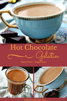 hot chocolate gelatin - dairy free sugar free