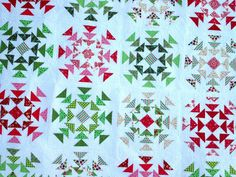 Homeward bound quilt - looks like sparkling snowflakes