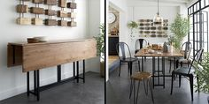 10 Space-Saving Dining Tables for your Tiny Apartment | http://www.designrulz.com/design/2014/09/10-space-saving-dining-tables-tiny-apartment/