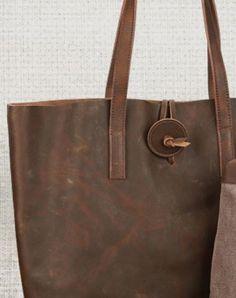Handmade Leather handbag shoulder bag tote for women leather shopper bag