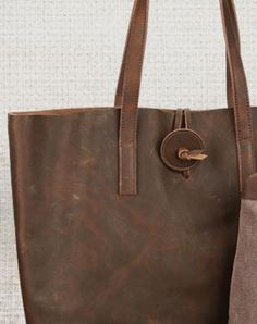 Handmade Vintage Leather Tote Bag Purse for Women Brown Tote Bag 9b5be9576