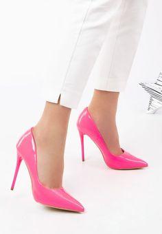 Pantofi stiletto Elama V1 Roz