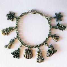 Jingle All The Way: Super-cute Christmas charm bracelet from eleanorhalljewellery.com Jingle All The Way, Super Cute, Charmed, Bracelets, Christmas, Jewelry, Fashion, Xmas, Moda