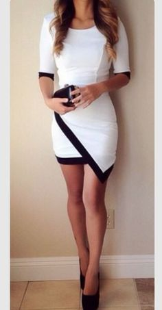 Comeback Asymmetrical Skirt Dress with black boarder