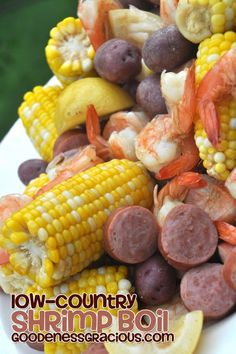 Low Country Shrimp Boil - Use a good quality ANDOUILLE sausage, not smoked sausage.
