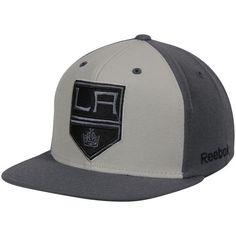 b8df3e6bdc540 Men s Los Angeles Kings Reebok Gray Crosscheck Snapback Adjustable Hat