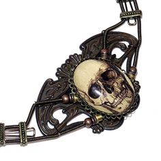 Steampunk Goth Jewelry  Necklace  Antique by CatherinetteRings, $195.00