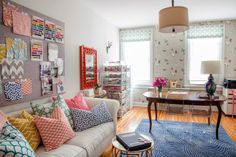 eclectic home office by Caitlin Wilson