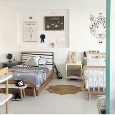 "234 Likes, 12 Comments - Green Cathedral Furniture (@greencathedral) on Instagram: ""Our new kids space featuring our awesome @kateandkatehome Bailey Bed collaboration...all the…"""