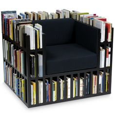 Now this is a cool idea for the right place. And a little wider with comfy pillows. Bookcase ottoman, too?