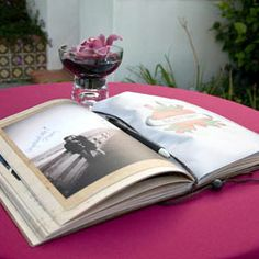 love this photo album idea for wedding guest book signing