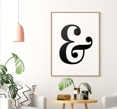 Ampersand Printable Art Poster, Ampersand Sign, Typography Wall Decor, Ampersand Wall Art Printable, Ampersand Decor *INSTANT DOWNLOAD* Ampersand Sign, Letter Wall Art, Printing Websites, Bedroom Decor For Couples, Ikea Frames, Christmas Wall Art, Pretty Fonts, Wall Prints, Printable Wall Art
