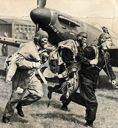 Battle of Britain - pilots scramble to their planes