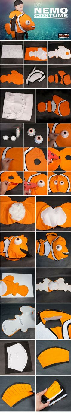 If you've been looking for the perfect Nemo costume, you've found the way to DIY one for (Diy Costume Halloween) Costume Halloween, Fall Halloween, Christmas Costumes, Christmas Gifts, Little Mermaid Costumes, The Little Mermaid, Homemade Costumes, Diy Costumes, Finding Nemo Costume