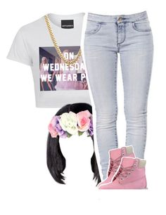 """On Wednesday we wear pink Contest"" by lulu-foreva ❤ liked on Polyvore"