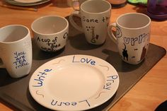 Sharpie decorated Mugs