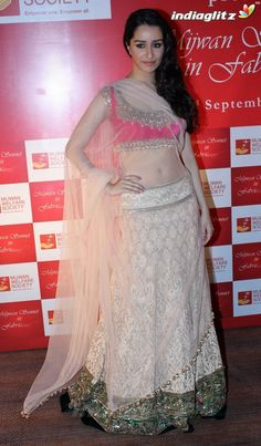 Shraddha Kapoor beautiful at Mijwan Sonnets in Fabric Fashion Show, Sept, 2012 in Lehenga Choli by Manish Malhotra to raise funds for brilliant Welfare Society run by Actor & Activist Shabana Azmi, founded by her late father Poet Activist Kaifi Azmi @ via Shraddha Kapoor Bikini, Shraddha Kapoor Cute, Indian Bollywood Actress, Bollywood Fashion, Bollywood Images, Bollywood Heroine, Bollywood Lehenga, Bollywood Celebrities, Lehenga Choli