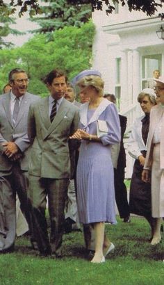 27 June 1983~Prince Charles~Princess Diana on walkabouts  Charllotetown~ Prince Edward Island~Canada, Day  14 Royal Tour