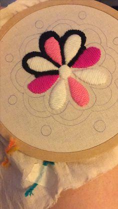Pineapple Embroidery, Ribbon Embroidery, Embroidery Art, Embroidery Stitches, Embroidery Designs, Kutch Work Designs, Punch Needle, Needlepoint, Mandala