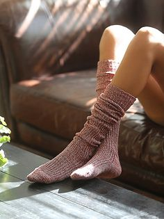 75fdca2954bf Free People Hand Knit Marl Thigh Hi at Free People Clothing Boutique Sock  Shoes
