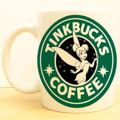 Tinkbucks Coffee Mug | Tinkerbell Peter Pan Starbucks | Disney Fairies
