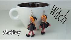 tutorial: miniature Halloween witch earrings