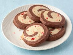 Chocolate Peppermint Pinwheel Cookies. lots of chilling time